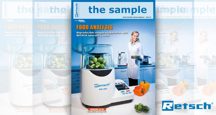 "Retsch: ""the sample"" Magazine: Reproducible Sample Prep for Food Analysis"