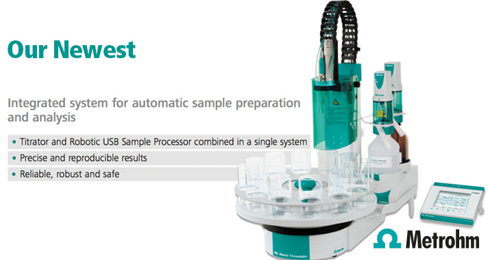 The new Metrohm 855 Light Titrosampler, start small and build up!