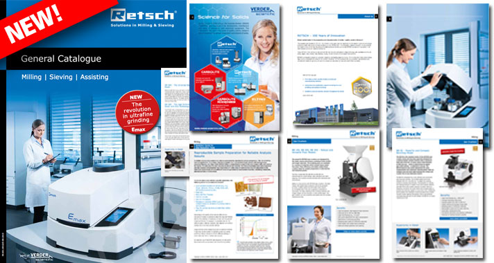 Retsch General Catalogue: Milling, Sieving, Assisting