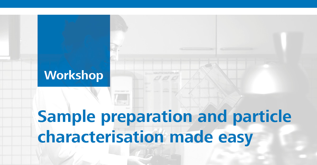 Retsch sample preparation and particle characterisation made easy