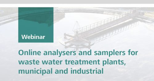 Online analysers and samplers for waste water treatment plants, municipal and industrial