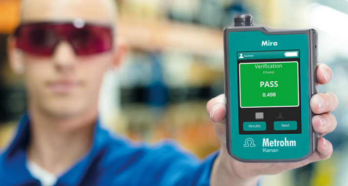 Mira P for the pharmaceutical industry: Instant onsite verification of raw materials