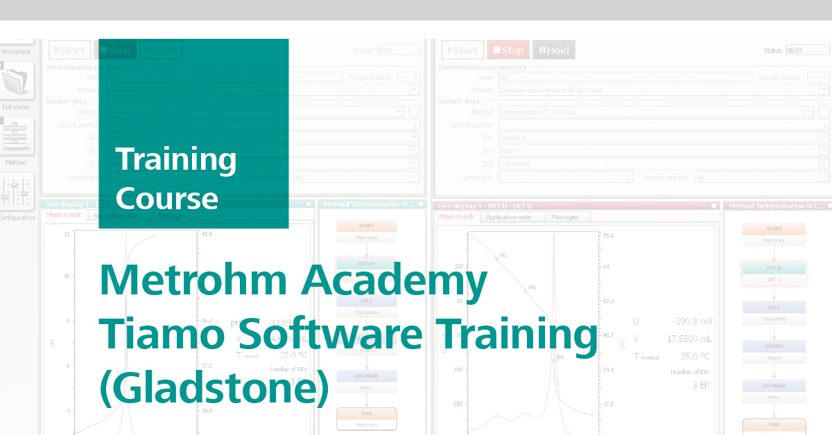 Metrohm Academy Tiamo Software Training | Gladstone, 20 March 2019